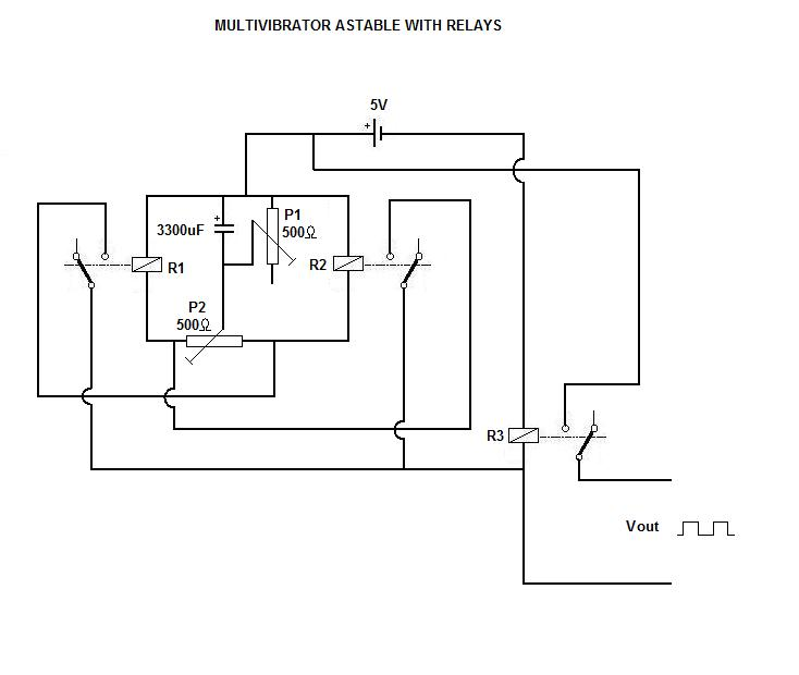 Multivibrator Astable With Relays on Like A Relay Because Again It Is Module