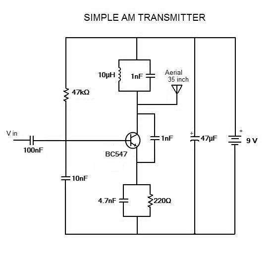 Simple Circuit Design Simple Am Transmitter Circuit