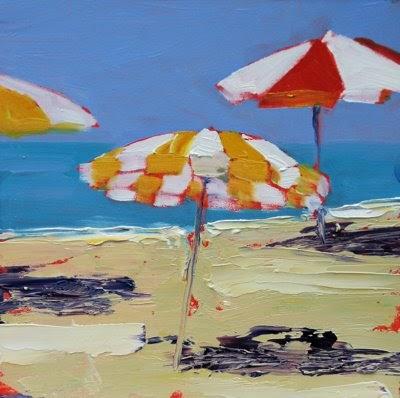Debbie Miller Painting Beach Umbrellas Daily Painting