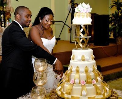 Ini Edo S Wedding Cake