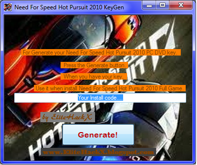 nfs hot pursuit 2010 free  full version with crack
