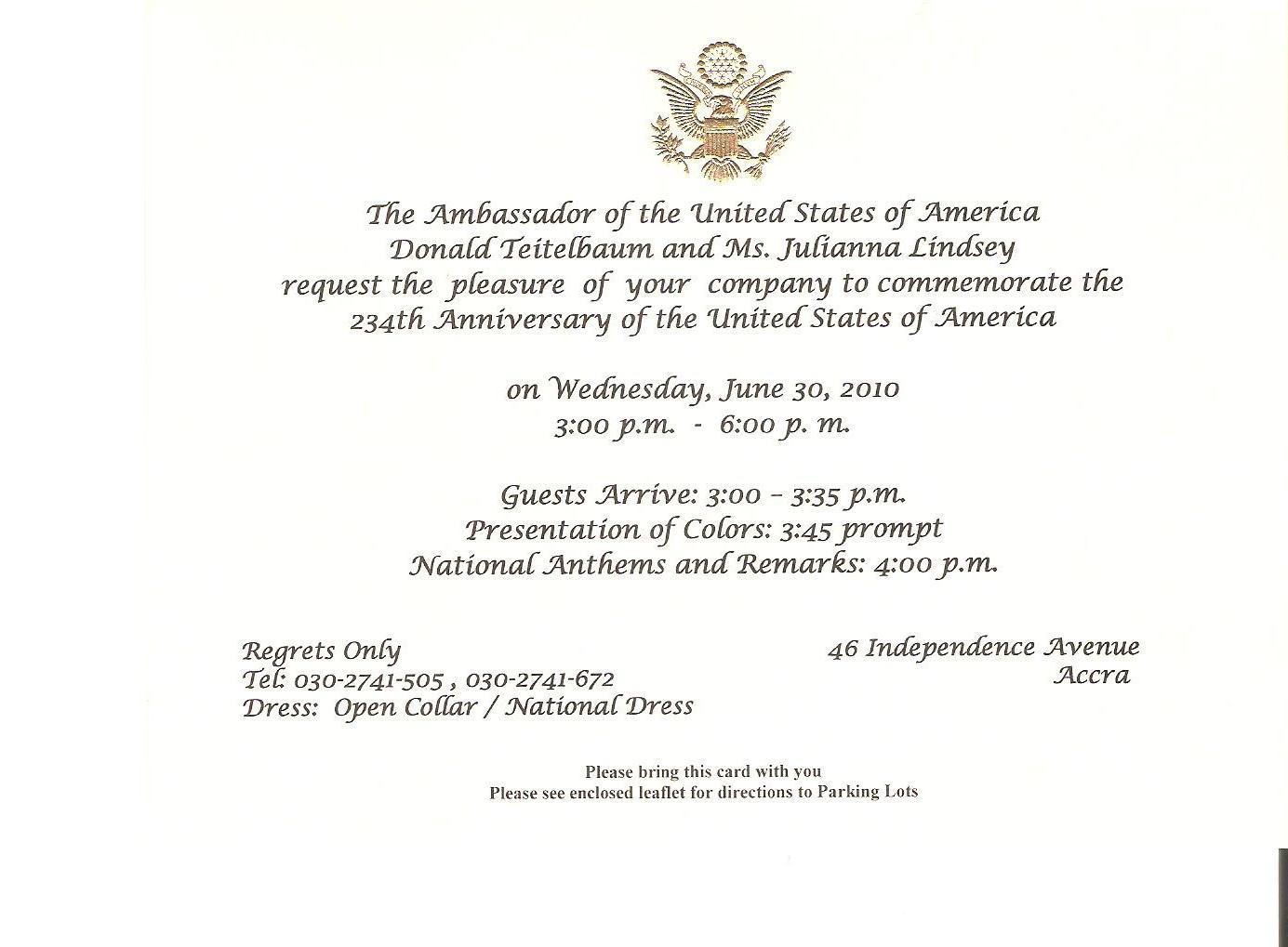 formal dinner invitation sample