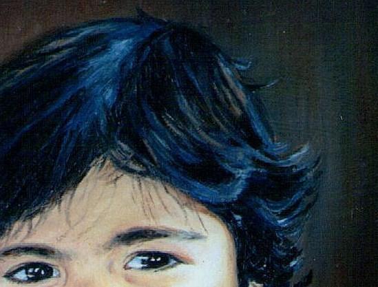 oil painting medic black hair