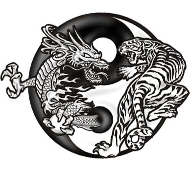 Tattoos Designs Tiger Dragon Tattoo