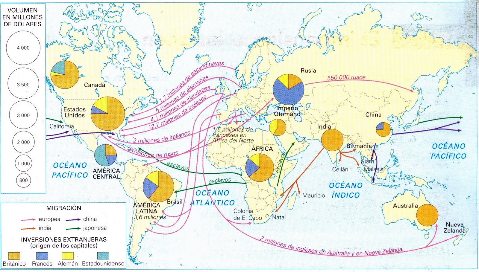 Mapa - Los Movimientos Migratorios Humanos [Human