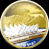 Памятная монета: Ванкувер - место проведения зимних Олимпийских игр 2010 г.Канада Плейс