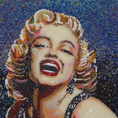 Marilyn Monroe Jelly Belly art