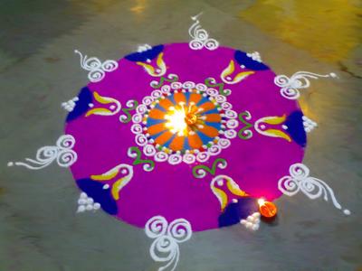 Colorful Rangoli Designs Flower Patterns Festival Rangoli