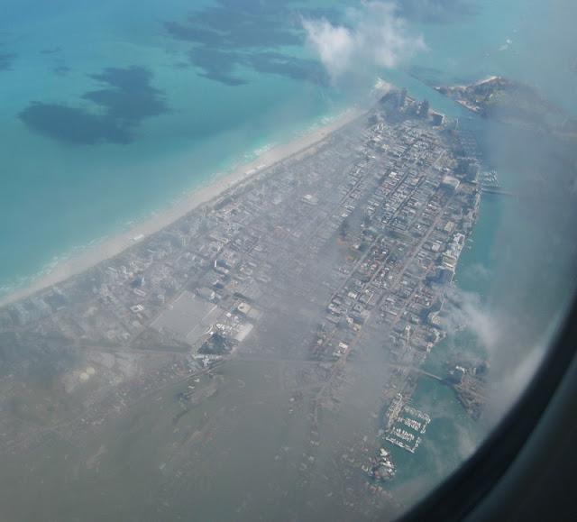 Blick auf Miami Beach vom Flugzeug aus