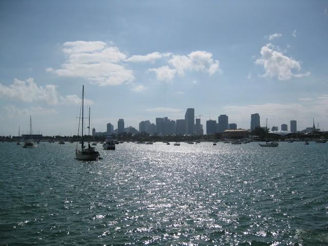 Blick auf Miami vom Wasser aus