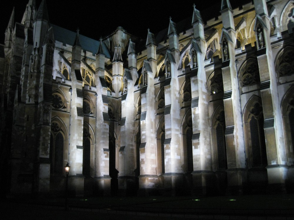 Westminster Abbey bei Nacht