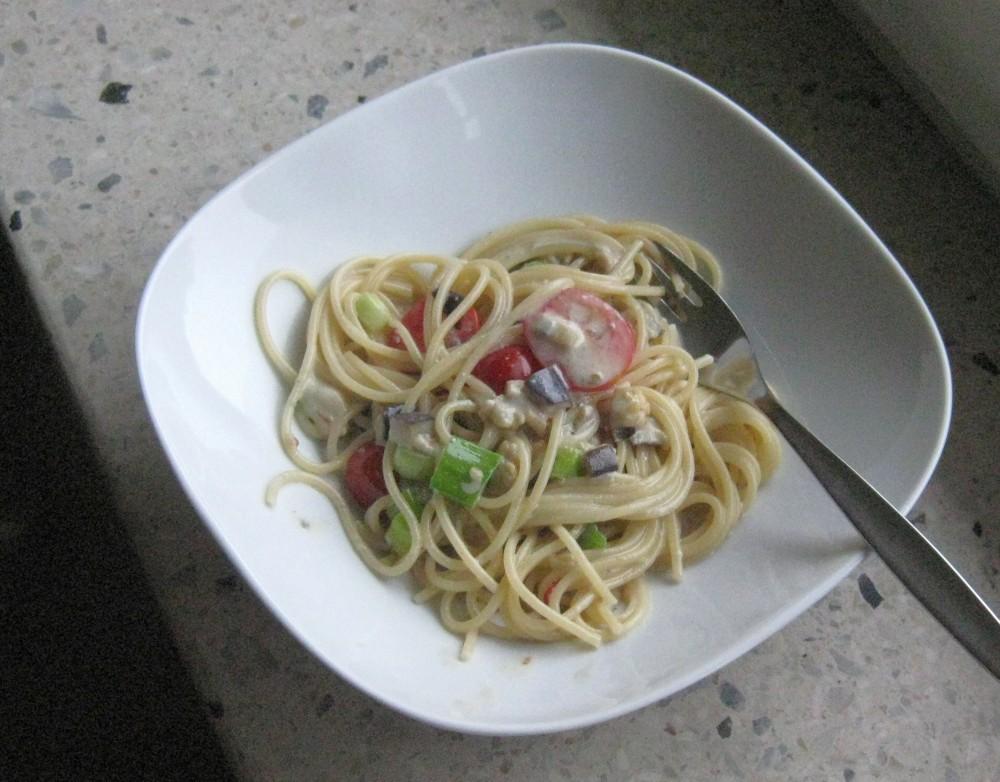 spagettisauce mit blauschimmelkäse