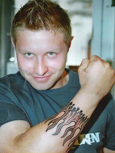 Polynesian Band Arm Tattoo