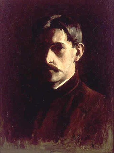 Willard Leroy Metcalf, Self Portrait, Portraits of Painters, Fine arts, Willard Leroy
