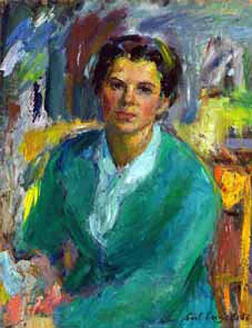 Lisl Engels, Self Portrait, Portraits of Painters, Fine arts, Portraits of painters blog, Paintings of Lisl Engels, Painter Lisl Engels