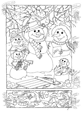 Hidden Pictures Publishing Snowman Hidden Picture Puzzle For Christmas