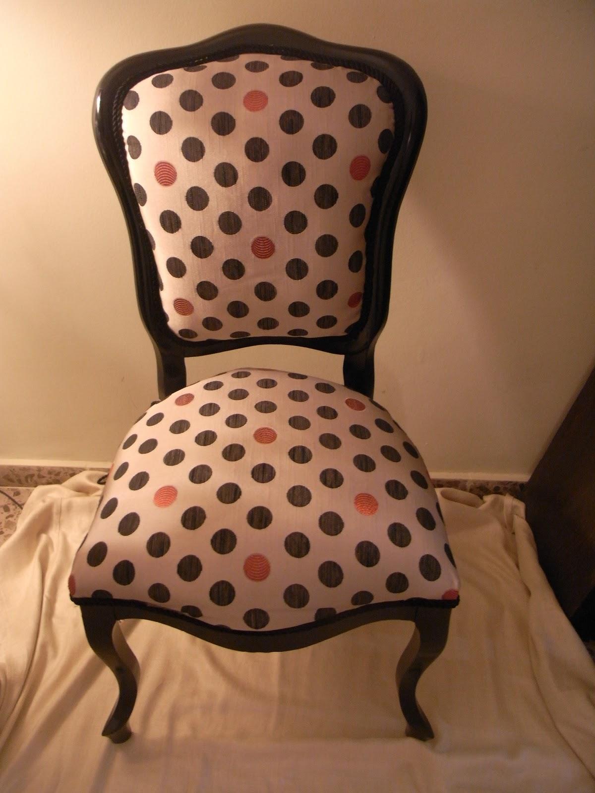 Reciclando trastos silla tapizada - Tapizar una silla ...