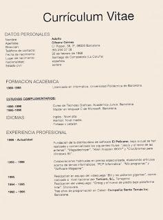 Caza Costumbres Curriculum Vitae Demoledor