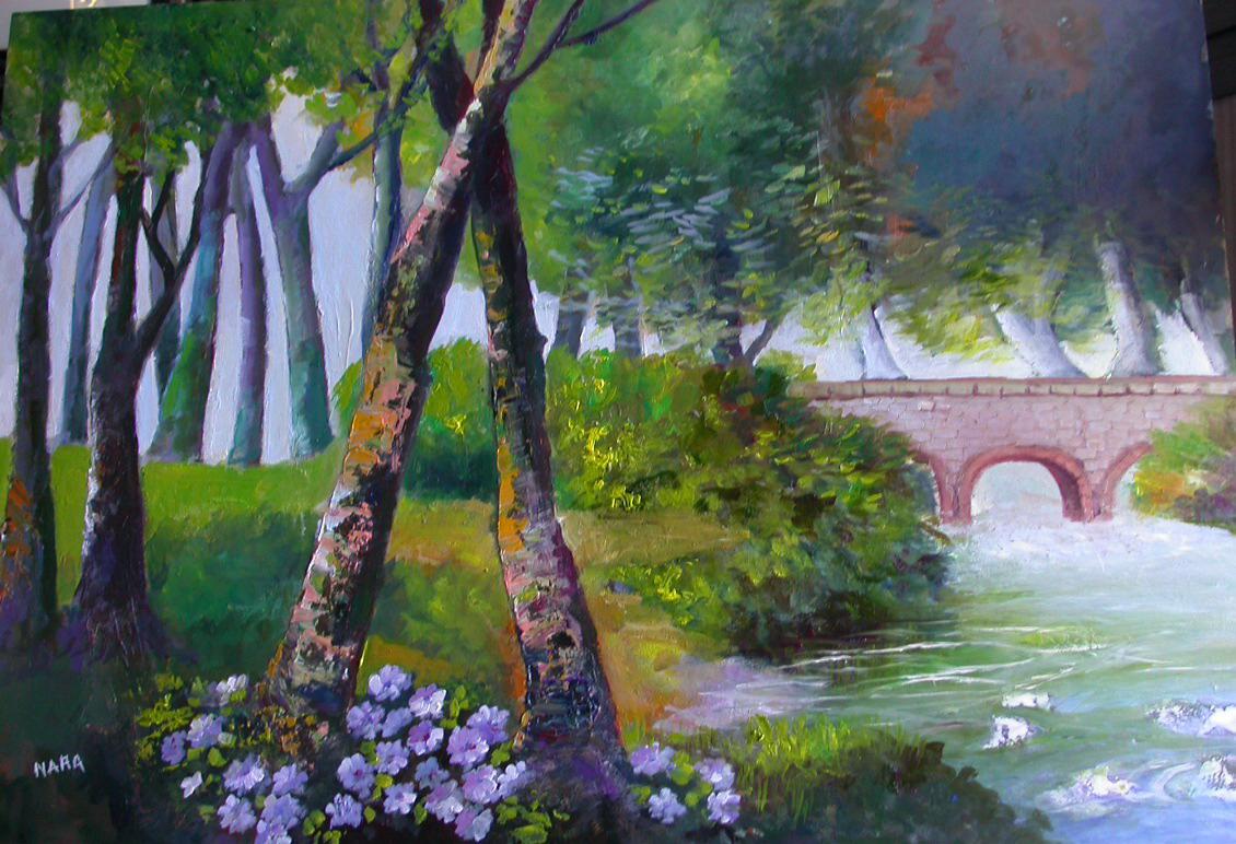 Dipinti di nara burgalassi paesaggi colori ad olio for Dipinti ad olio fiori