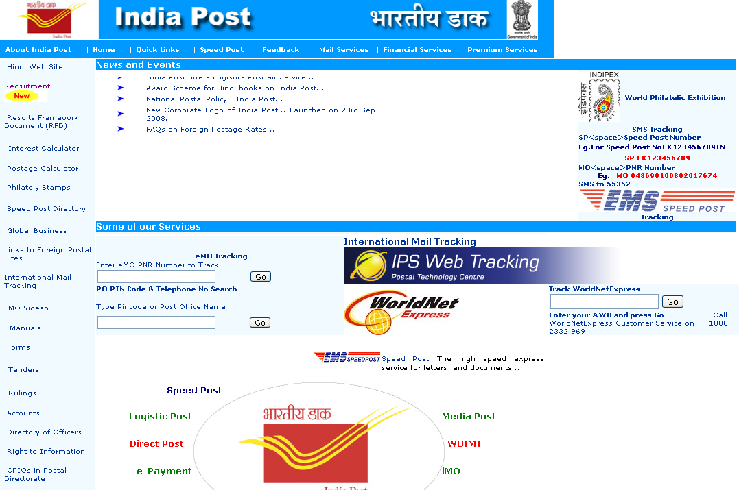 indiapost .gov.in.tracking registered post