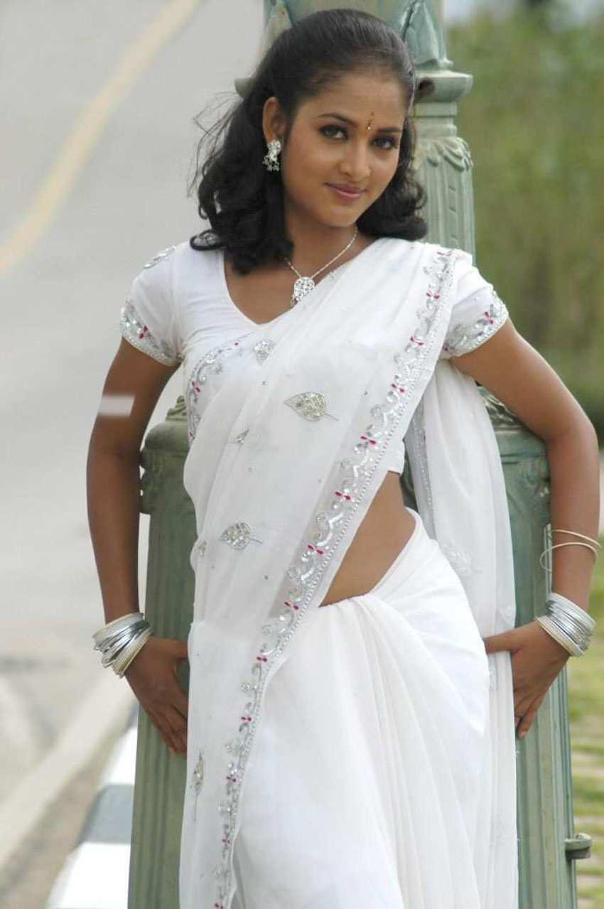 White Saree Tamanna In Veeram: Bridal Saree: South