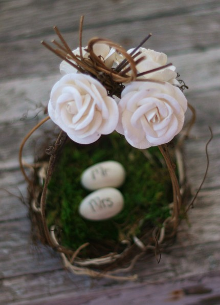 Morgann Hill Designs Wedding Cake Topper Birds Nest