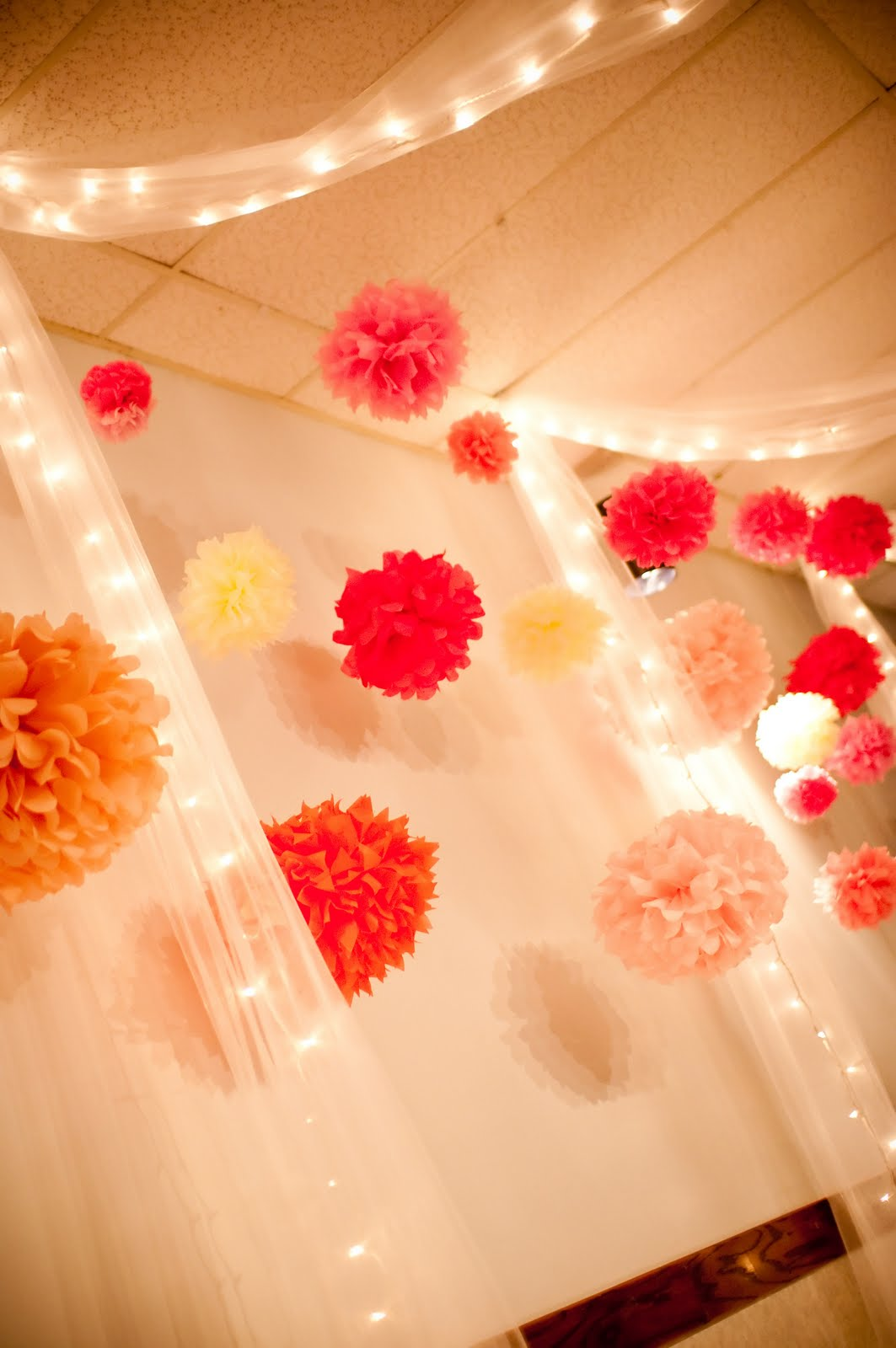SewSweetStitches: Handmade Tissue Paper Flowers And Pompom