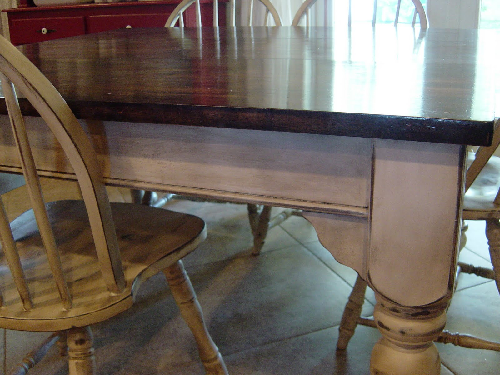 Remodelaholic | Kitchen Table Refinished With Distressed Look