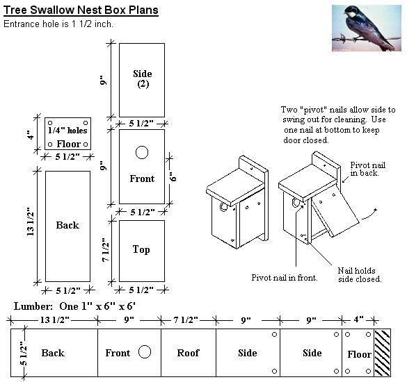 Tree Swallow Bird Houses 25