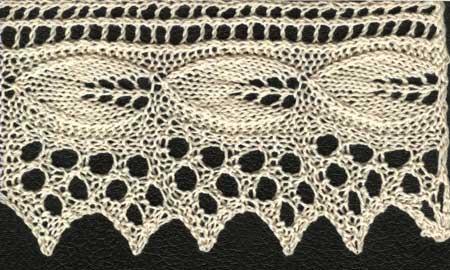 ажурное вязание спицами каймы схемы и фото. ажурный палантин с каймой.