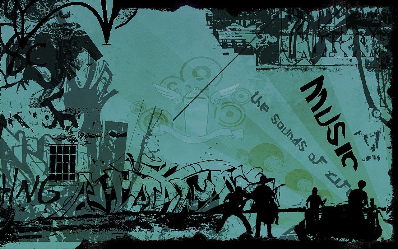 Graffiti music wallpaper by LOL55555 | Urban Art Wallpaper