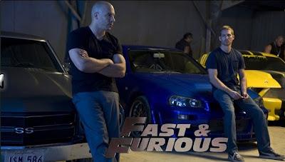 Vin Diesel and Paul Walker - Fast and Furious Movie