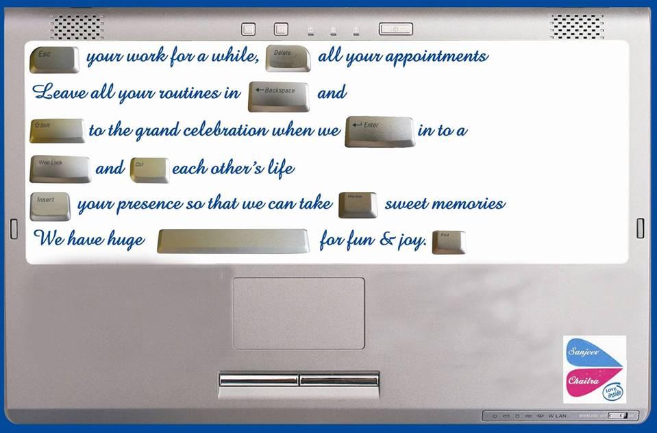 Software Wedding Invitations: Software Professional Wedding Invitation Card Sample