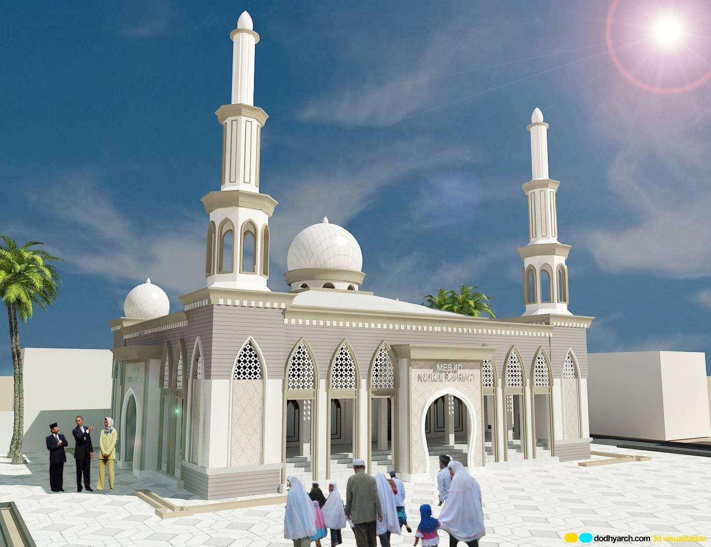 disain rumah Desain Mesjid Nurul Rahmat BTN Hamzy Makassar
