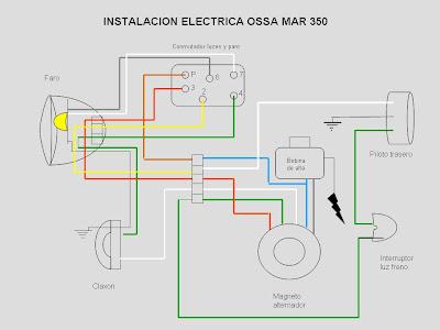 bultaco alpina wiring diagram ossa mar 350 1975 1977 2 06 esquema el  ctrico  ossa mar 350 1975 1977 2 06 esquema el  ctrico