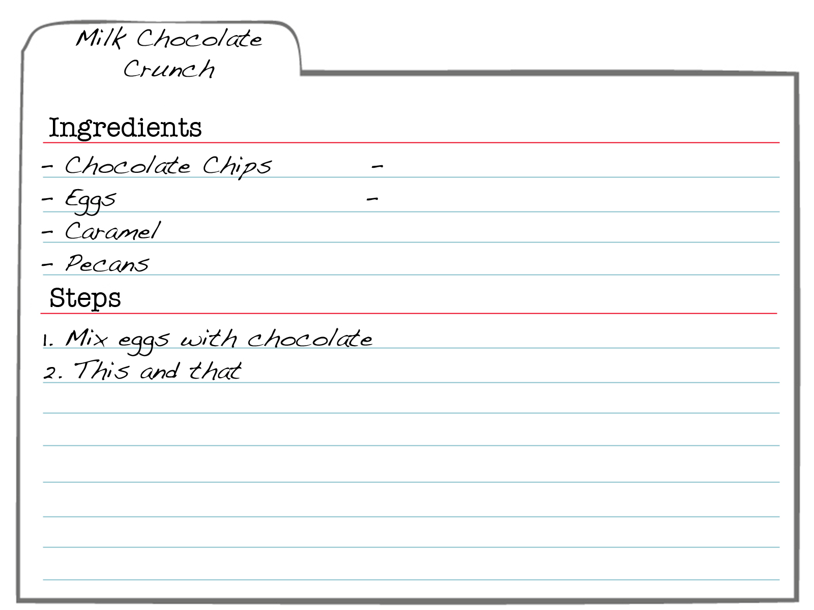 3x5 Card Template Word – Recipe Page Template Word