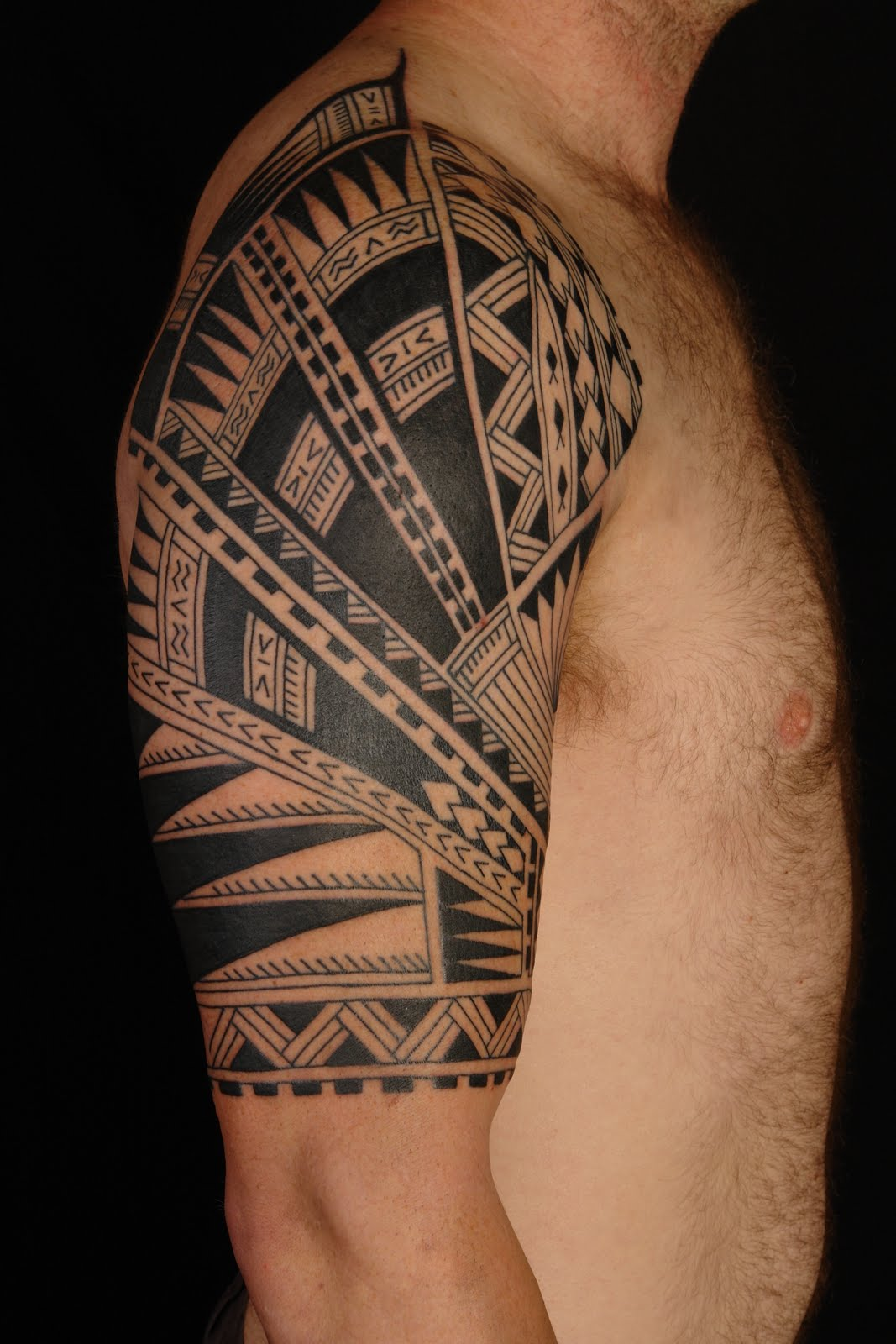 Half Sleeve Tattoo Stencils: SHANE TATTOOS: Polynesian Half Sleeve On Steve