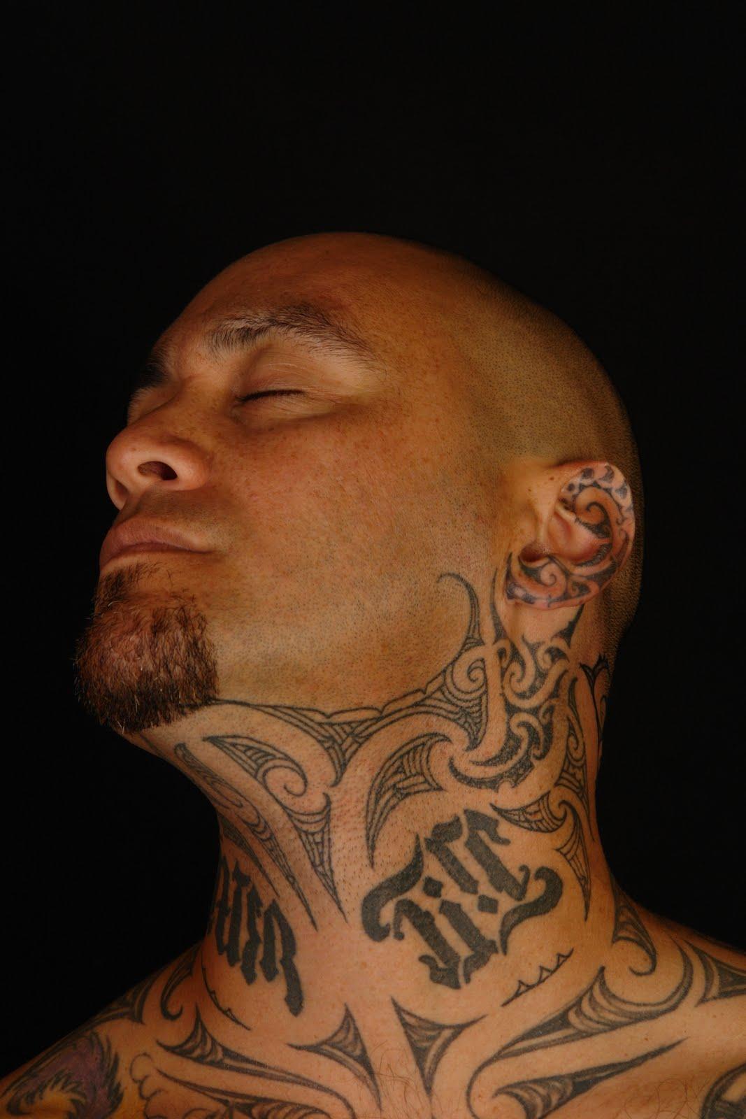 SHANE TATTOOS: Tiki Taane Throat Tattoo