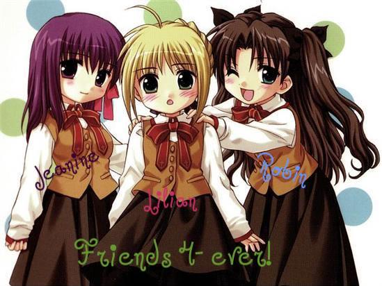 Free Wallpaper Anime Friends Cards Friendship Anime Cartoon Ecards