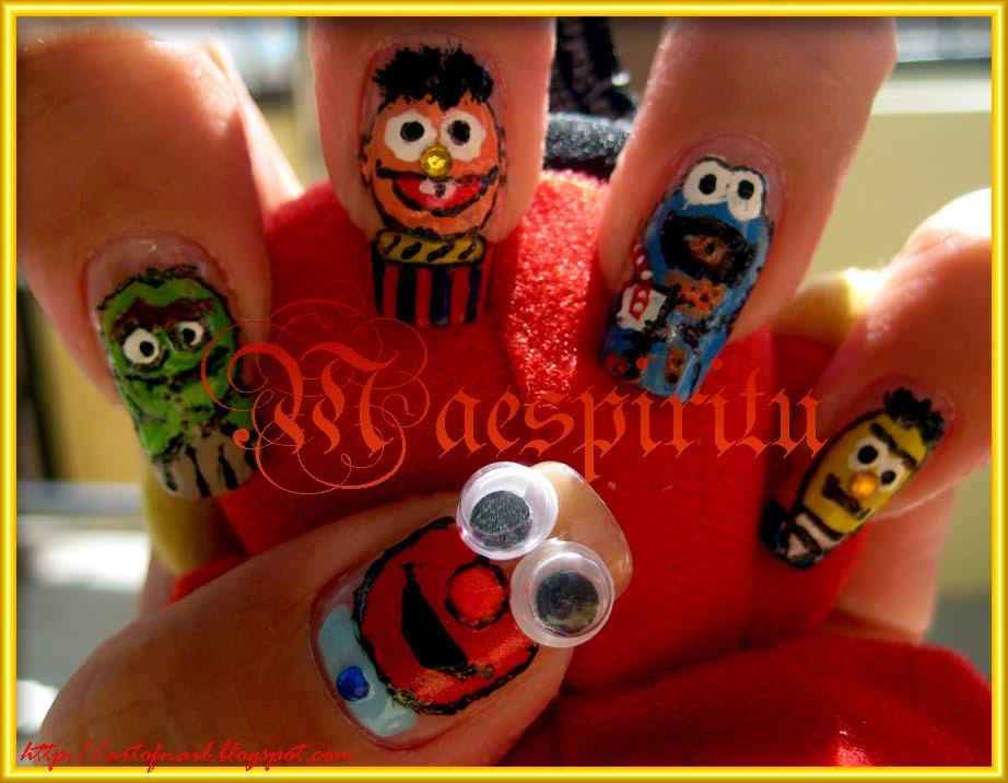 Sesame Street Nail Art  silvertrendzcom