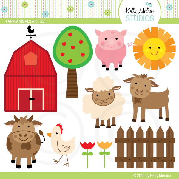 clipart pictures farm animals - photo #17