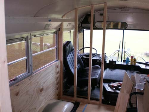 Day 46 Drivers Wall Amp Cabinets School Bus Conversion