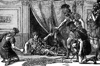 Risultati immagini per i pretoriani UCCIDONO L'IMPERATORE