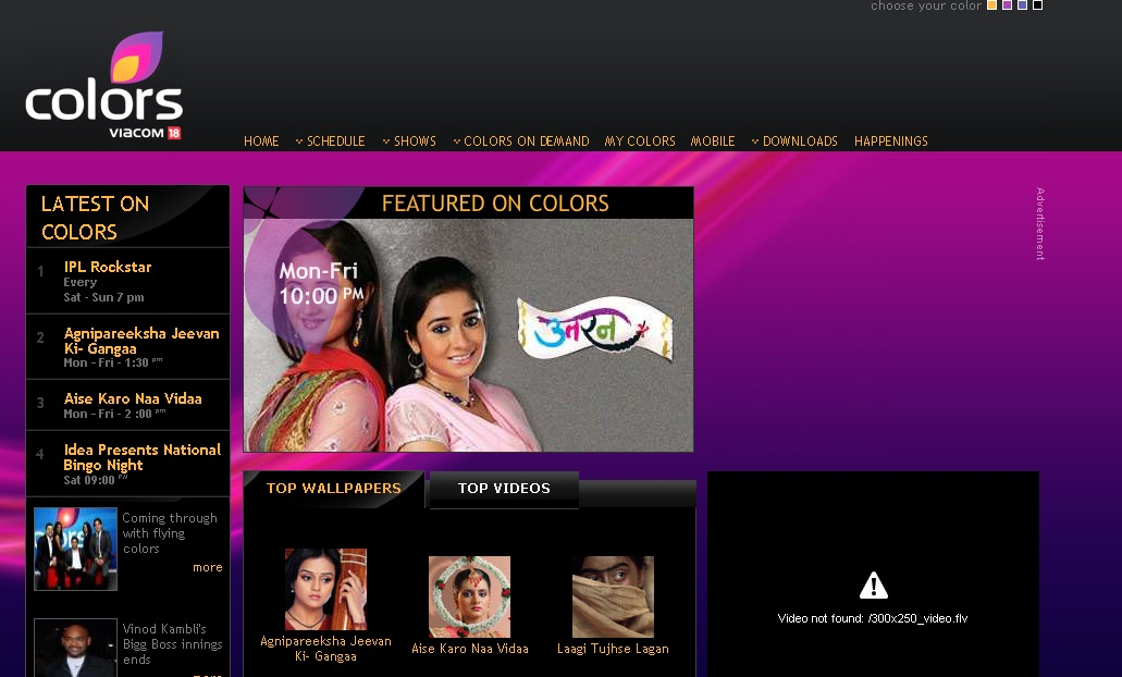 ColorsTv In - Colors Channel India Website Review