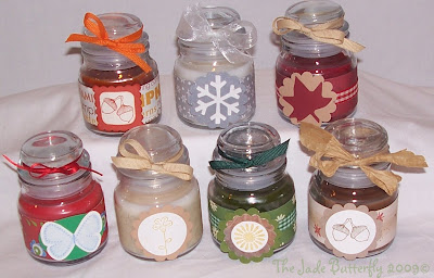 The Jade Butterfly: Decorated Small Jar Candles