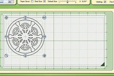 Capadia Designs: Adjustable Snowflakes in Circles (a step by