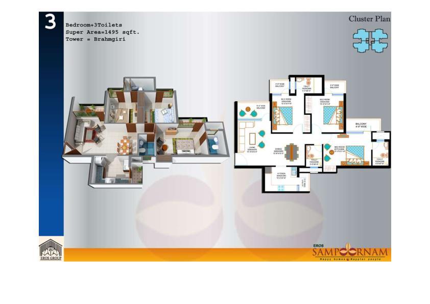 1495-sq.ft.-3-BHK-floor-plan