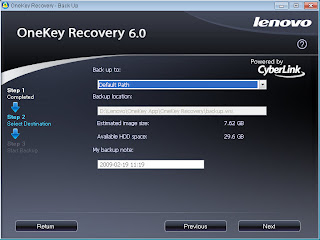 My affair with the Lenovo S10: One Key Recovery - OKR not OK?