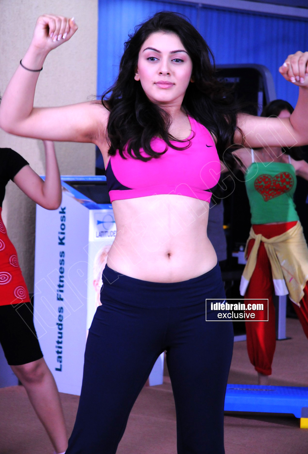 Hansika working out at GYM