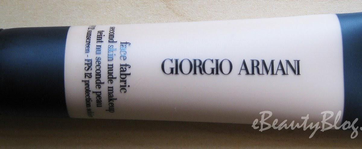 Ebeautyblog Com Giorgio Armani Face Fabric Foundation